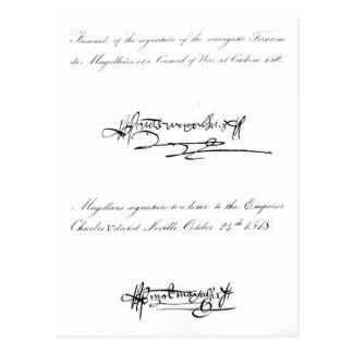 Two Examples of the Signature Postcard