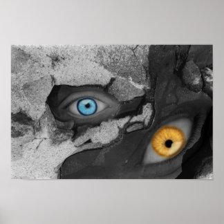 Two Eyes Multi-media Art Poster