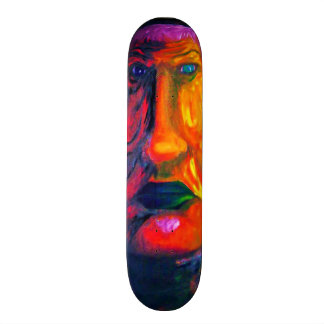Two-Face Colorful Sad Surreal Green Lips Skate Board Decks