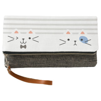 Two Faced Kitty Clutch
