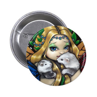 """Two Fae Ferrets"" Button"