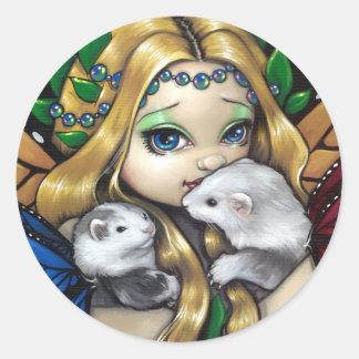 """Two Fae Ferrets"" Sticker"