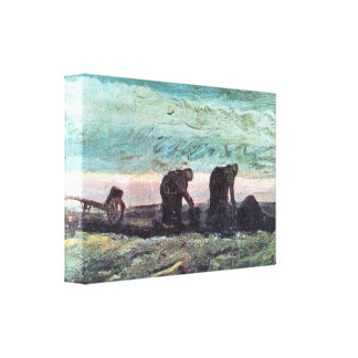 Two farmers by Vincent van Gogh Canvas Print