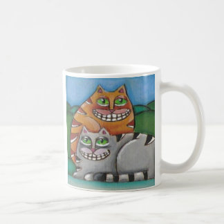 Two Fat Cats  Cat Lover Mug