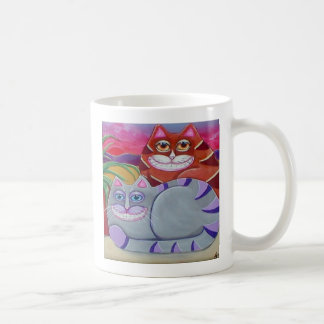 Two Fat Tabby Cats Whimsical Mug