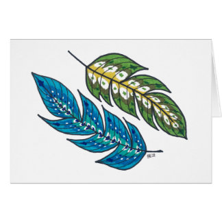 Two Feathers Card
