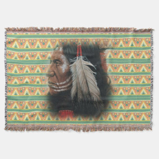 Two Feathers Throw Blanket