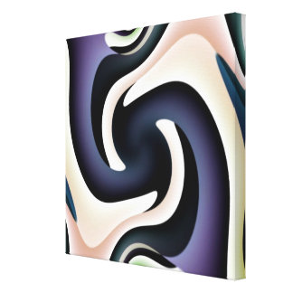 Two Feet Square Abstract Wrapped Canvas