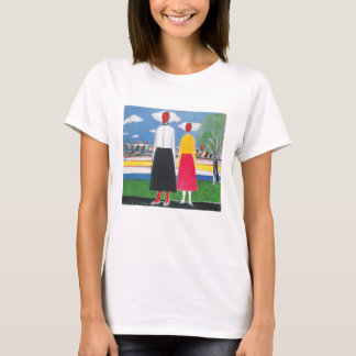 Two Figures in a Landscape by Kazimir Malevich T-Shirt