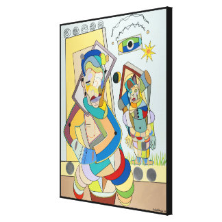 """Two Figures: O and Ru"" by Ruchell Alexander Canvas Print"