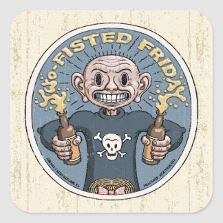 Two-Fisted Friday Square Sticker