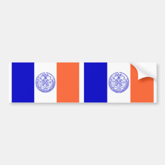 TWO Flag of New York City Bumper Sticker