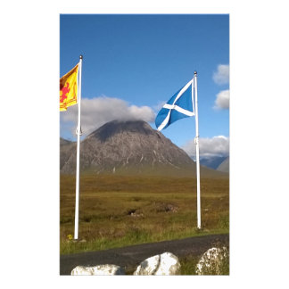 two flags of Scotland Customized Stationery