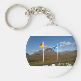 two flags of Scotland Keychain