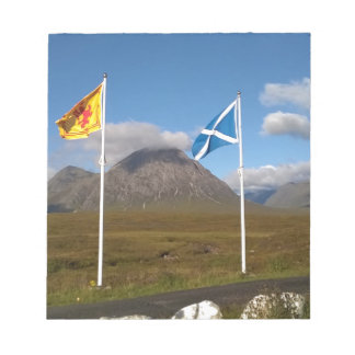 two flags of Scotland Notepad