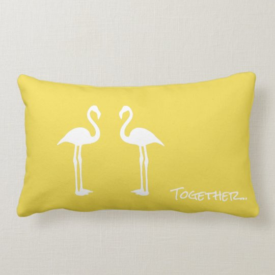 Two Flamingo Birds Together Throw Pillow