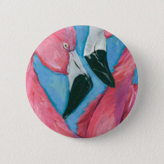 Two Flamingos 2 Inch Round Button
