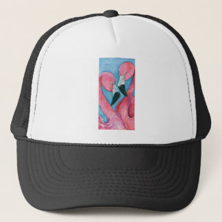 Two Flamingos Trucker Hat