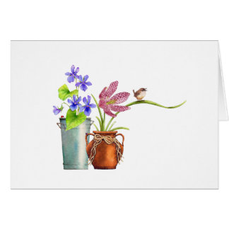 Two Flowerpots Card
