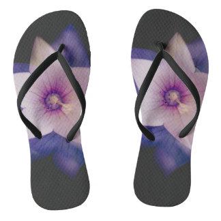 Two flowers in one flip flops
