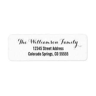 Two Fonts - Return Address Label