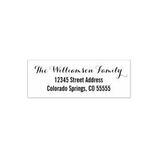 Two Fonts - Return Address Self-Inking Stamp