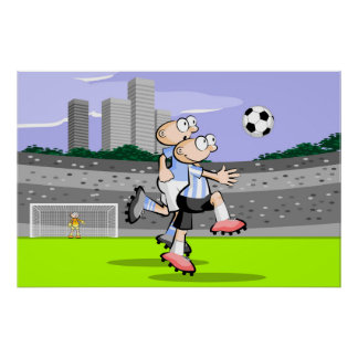 Two football players Soccer Poster