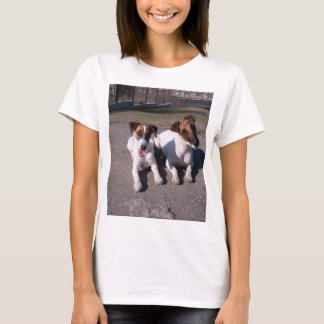 Two_fox_terriers_laying_down T-Shirt