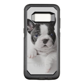 Two French Bulldog Puppies Peer Over A Wall OtterBox Commuter Samsung Galaxy S8 Case