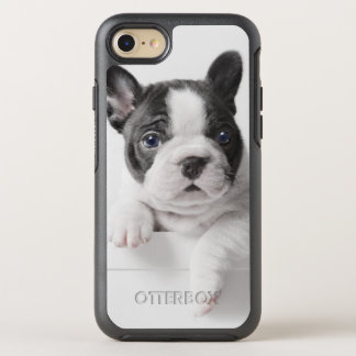 Two French Bulldog Puppies Peer Over A Wall OtterBox Symmetry iPhone 7 Case