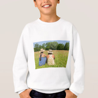 Two friends sitting together in meadow.JPG Sweatshirt