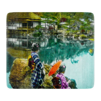 Two Geisha Enjoy a Day at the Park Vintage Japan Boards
