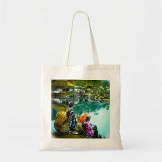 Two Geisha Enjoy a Day at the Park Vintage Japan Tote Bag