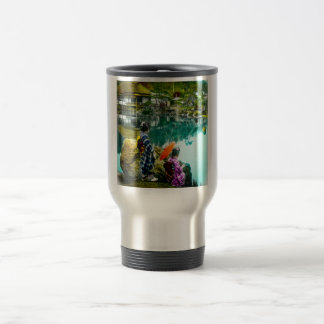 Two Geisha Enjoy a Day at the Park Vintage Japan Travel Mug