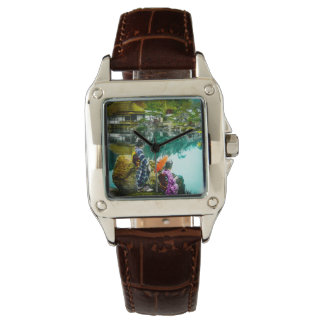 Two Geisha Enjoy a Day at the Park Vintage Japan Watch