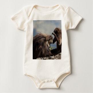 Two gelada baboons (Theropithecus gelada) Baby Bodysuit
