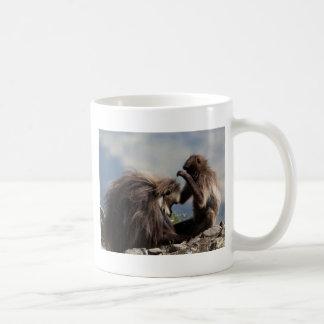 Two gelada baboons (Theropithecus gelada) Coffee Mug