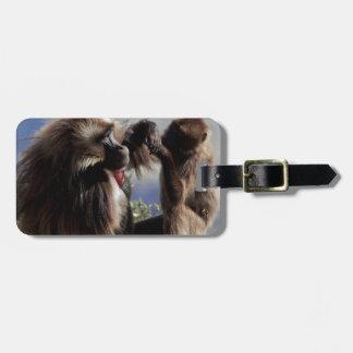Two gelada baboons (Theropithecus gelada) Luggage Tag