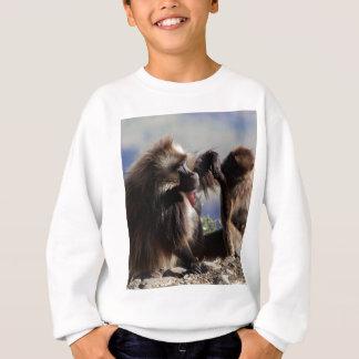 Two gelada baboons (Theropithecus gelada) Sweatshirt