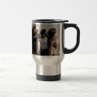 Two gelada baboons (Theropithecus gelada) Travel Mug
