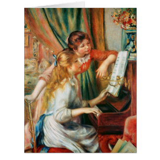 Two Girls at the Piano by Renoir Big Card