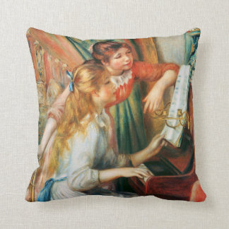 Two Girls at the Piano by Renoir Throw Pillow