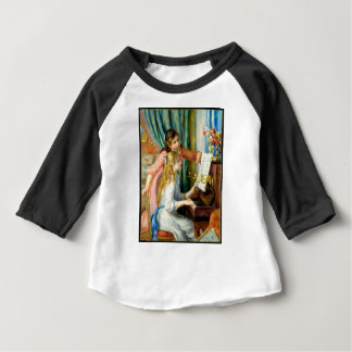 Two Girls at the Piano - Pierre Auguste Renoir Baby T-Shirt