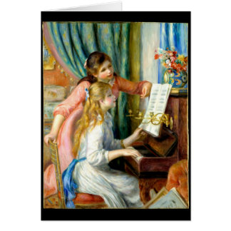 Two Girls at the Piano - Pierre Auguste Renoir Card