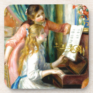 Two Girls at the Piano - Pierre Auguste Renoir Coaster