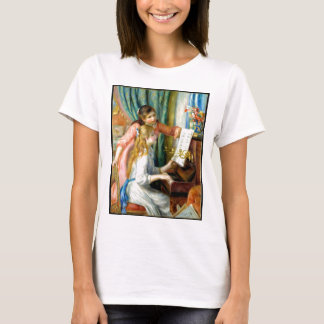 Two Girls at the Piano - Pierre Auguste Renoir T-Shirt