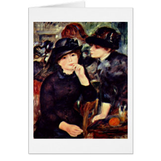 Two Girls In Black By Pierre-Auguste Renoir Card