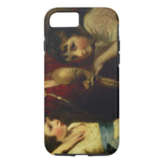 Two Girls, One Playing with a Mask, detail from th iPhone 7 Case