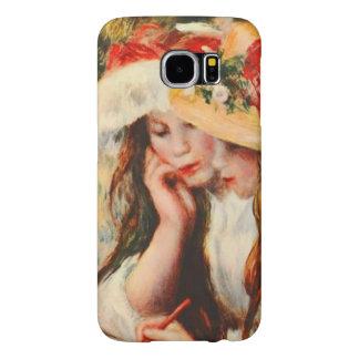 Two Girls Reading in a Garden Renoir Fine Art Samsung Galaxy S6 Cases