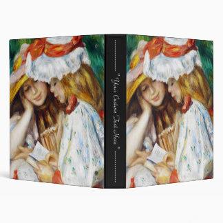 Two Girls Reading Pierre Auguste Renoir painting 3 Ring Binders